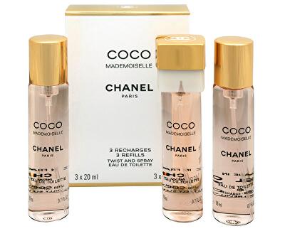 Coco Mademoiselle - EDT - náplň (3 x 20 ml)