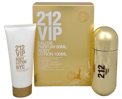 212 VIP - parfumová voda s rozprašovačom 80 ml + telové mlieko 100 ml