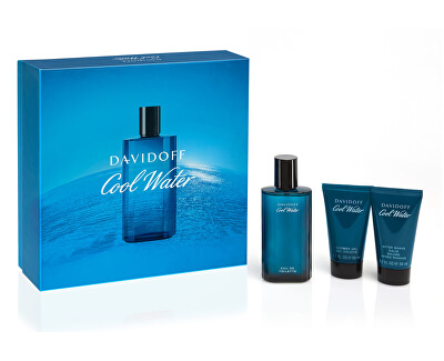 Cool Water Man - EDT 75 ml + sprchový gel 50 ml + balzám po holení 50 ml