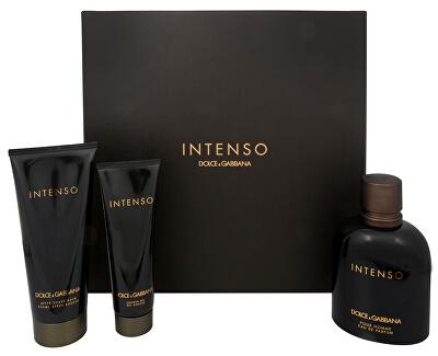 Dolce & Gabbana Intenso Pour Homme - EDP 125 ml + balzám po holení 100 ml + sprchový gel 50 ml