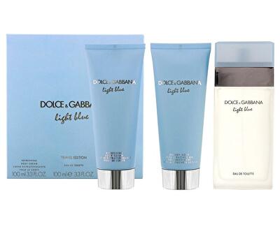 Light Blue - EDT 100 ml + tělový krém 100 ml + koupelový a sprchový gel 100 ml