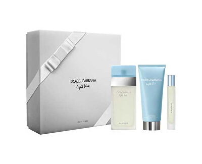 Dolce & Gabbana Light Blue - EDT 100 ml + tělový krém 100 ml + EDT 7,4 ml