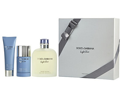 Light Blue Pour Homme - EDT 200 ml + sprchový gel 50 ml + tuhý deodorant 75 ml
