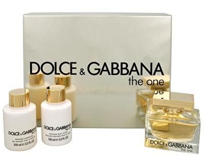 Dolce & Gabbana The One - EDP 75 ml +lapte de corp 100 ml + gel de duș 100 ml