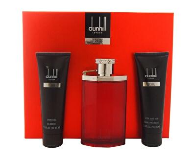 Desire For A Man - EDT 100 ml + sprchový gel 90 ml + balzám po holení 90 ml + taštička