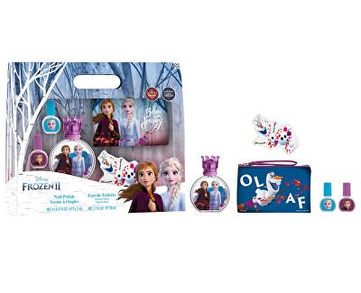 Disney Frozen - EDT 50 ml + 2 x smalto per unghie + lima + pochette cosmetica