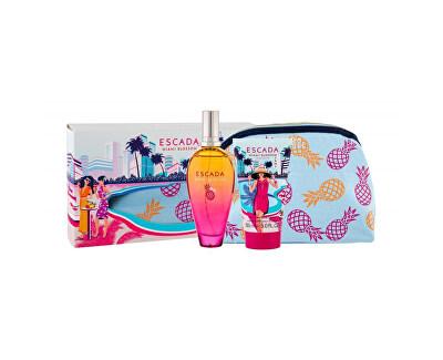 Miami Blossom - EDT 100 ml + tělové mléko 150 ml + kosmetická taštička