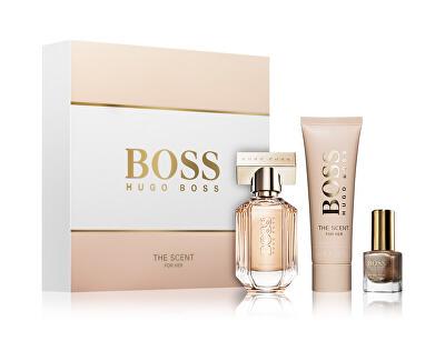 Boss The Scent For Her - EDP 30 ml + tělové mléko 50 ml + lak na nehty 4,5 ml