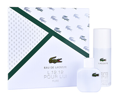 Eau De Lacoste L.12.12 Blanc - EDT 50 ml + deodorant ve spreji 150 ml