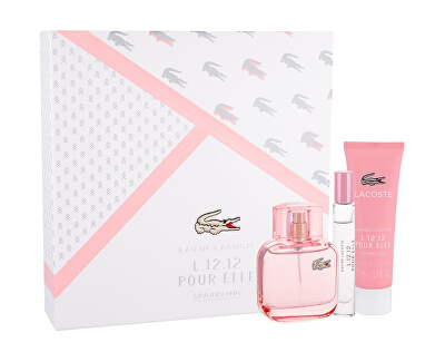 Eau De Lacoste L.12.12 Pour Elle Sparkling - EDT 50 ml + sprchový gel 50 ml + EDP 7,5 ml