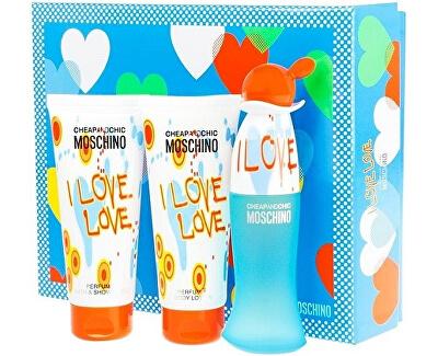 Cheap & Chic I Love Love -  EDT 50 ml + tělové mléko 100 ml + sprchový gel 100 ml