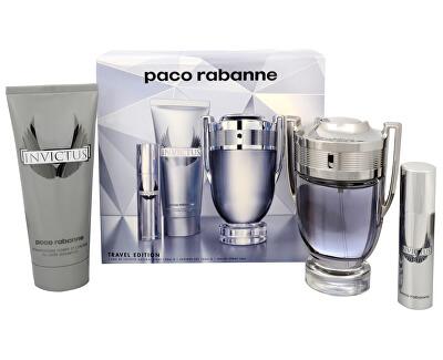 Paco Rabanne Invictus - EDT 100 ml + sprchový gel 100 ml + EDT 10 ml