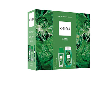 Luminous Emerald - deodorant s rozprašovačem 75 ml + sprchový gel 250 ml