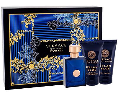 Versace Pour Homme Dylan Blue - EDT 50 ml + balsamo dopobarba 50 ml + gel doccia 50 ml