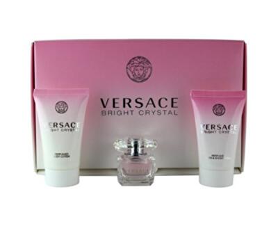 Versace Bright Crystal - miniatura EDT 5 ml + lăptișor de corp 25 ml + gel de duș 25 ml