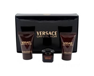 Versace Crystal Noir -EDT5 ml+ loțiune de corp 25 ml+ gel de duș 25 ml