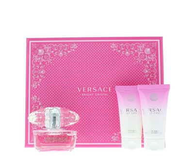 Versace Bright Crystal - EDT 50 ml + lapte de corp 50 ml + gel de duș 50 ml