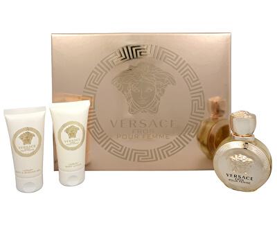 Versace Eros Pour Femme - EDP 50 ml + loțiune de corp 50 ml + gel de duș 50 ml
