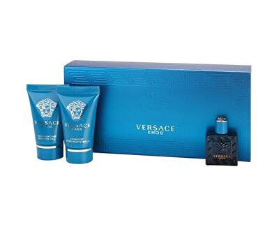 Versace Eros - EDT 5 ml + balsam aftershave 25 ml + Gel de duș 25 ml