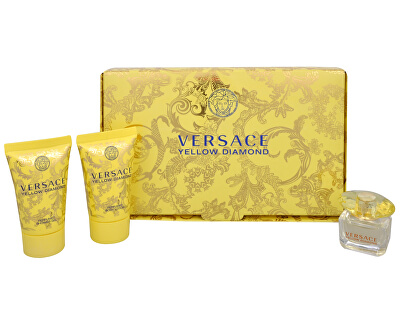 Versace Yellow Diamond - EDT 5 ml + sprchový gel 25 ml + tělové mléko 25 ml