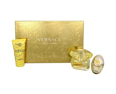 Versace Yellow Diamond - EDT 50 ml + lapte de corp 50 ml + EDT 10 ml