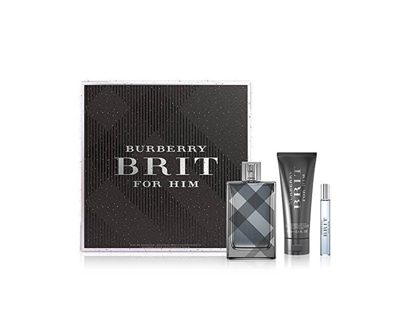 Burberry Brit For Men - EDT 100 ML + balzám po holení 75 ml + EDT 7,5 ml