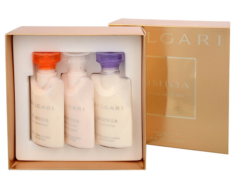 Bvlgari Omnia Amethyste - tělové mléko 40 ml + Omnia Indian Garnet - tělové mléko 40 ml + Omnia Crystalline L`Eau De Parfum - tělové mléko 40 ml