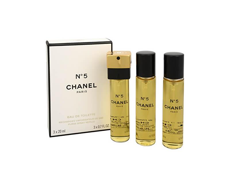 Chanel No. 5 - toaletní voda s rozprašovačem - náplň (3 x 20 ml)