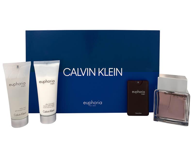 Calvin Klein Euphoria Men - EDT 100 ml + balzám po holení 100 ml + sprchový gel 100 ml + EDT 20 ml