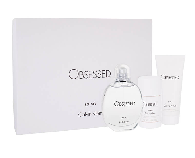 Calvin Klein Obsessed For Men - EDT 125 ml + sprchový gel 100 ml + tuhý deodorant 75 ml