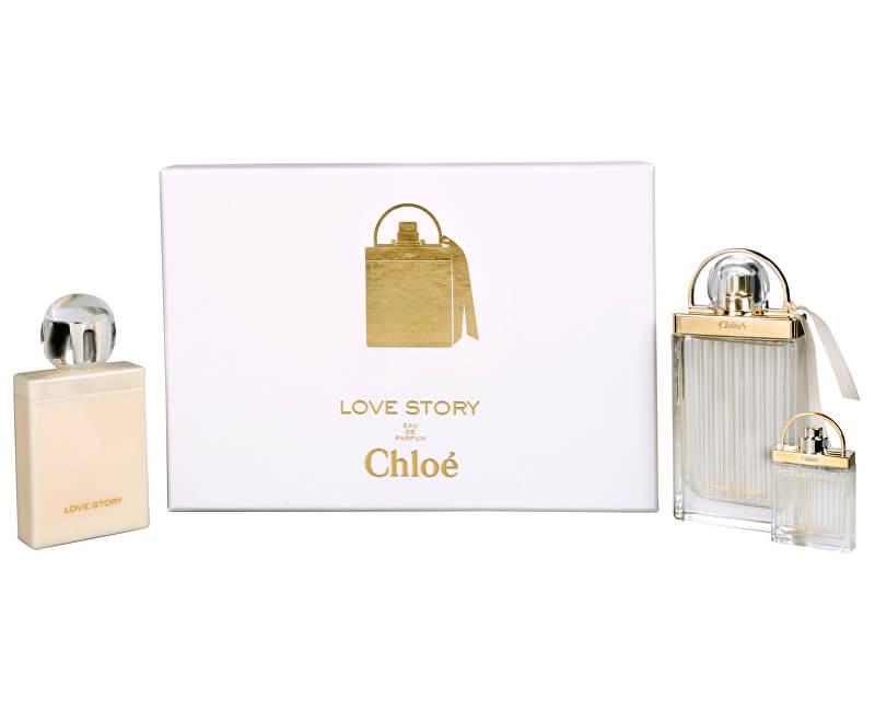 Chloé Love Story - EDP 75 ml + loțiune de corp 100 ml + miniatura EDP 7,5 ml