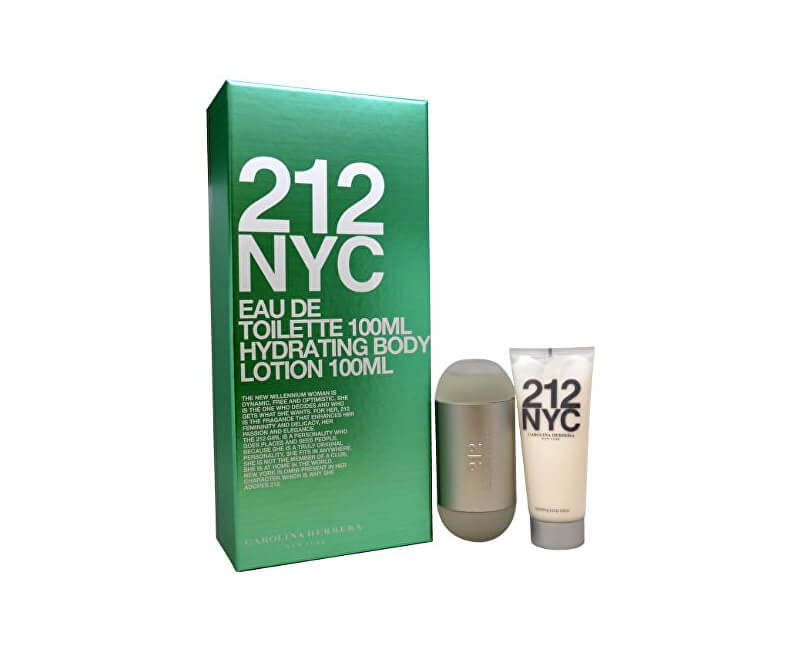 Carolina Herrera 212 - EDT 100 ml + tělové mléko 100 ml