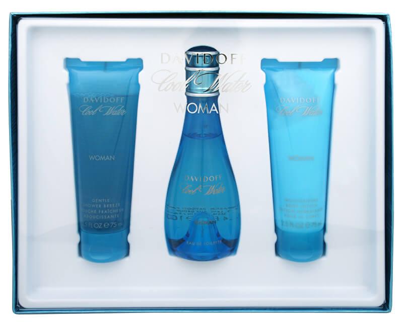 Davidoff Cool Water Woman - EDT 100 ml + tělové mléko 75 ml + sprchový gel 75 ml