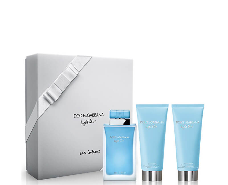 Dolce & Gabbana Light Blue Eau Intense - EDP 100 ml + crema de corp 100 ml + gel de duș 100 ml