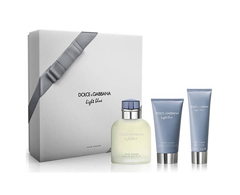 Dolce & Gabbana Light Blue Pour Homme - EDT 125 ml + balzám po holení 75 ml + sprchový gel 50 ml