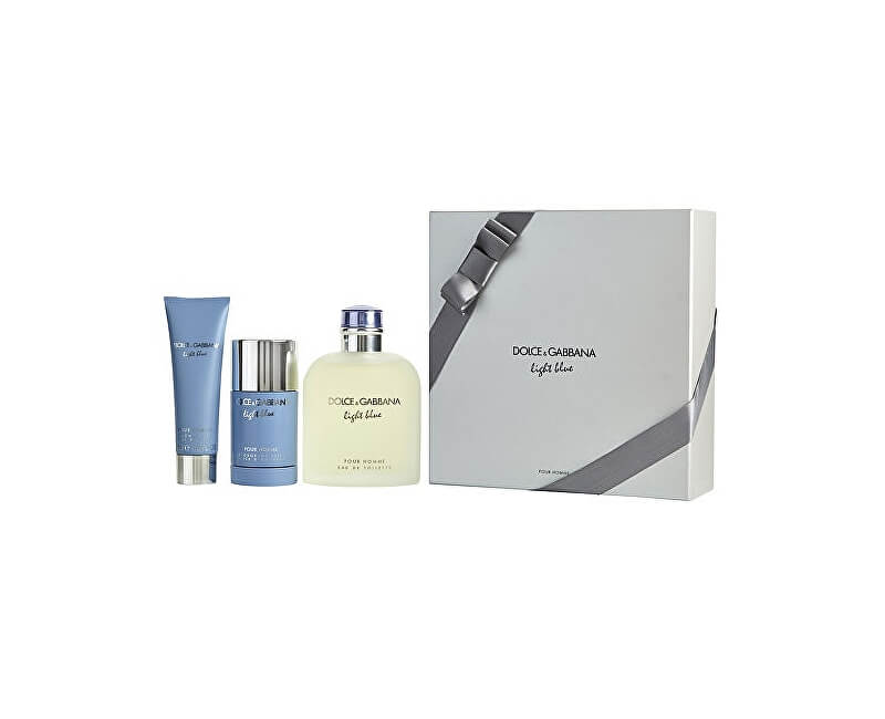 Dolce & Gabbana Light Blue Pour Homme - EDT 200 ml + sprchový gel 50 ml + tuhý deodorant 75 ml