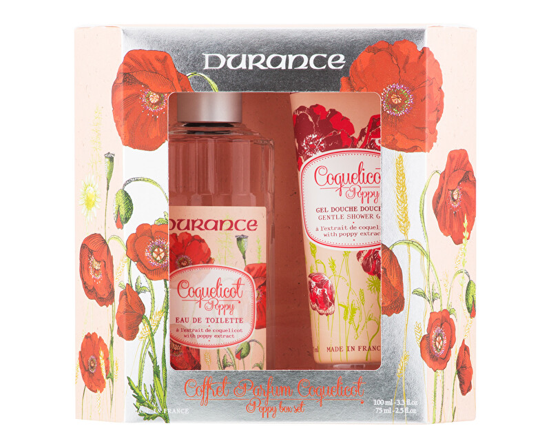Durance Coquelicot Poppy - EDT 100 ml + sprchový gel 75 ml