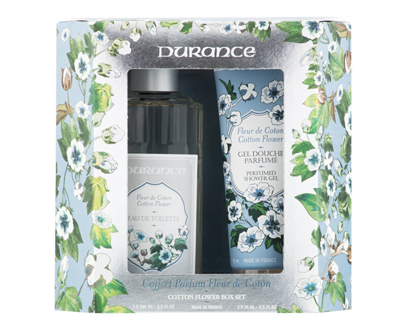 Durance Květ bavlny - EDT 100 ml + sprchový gel 75 ml