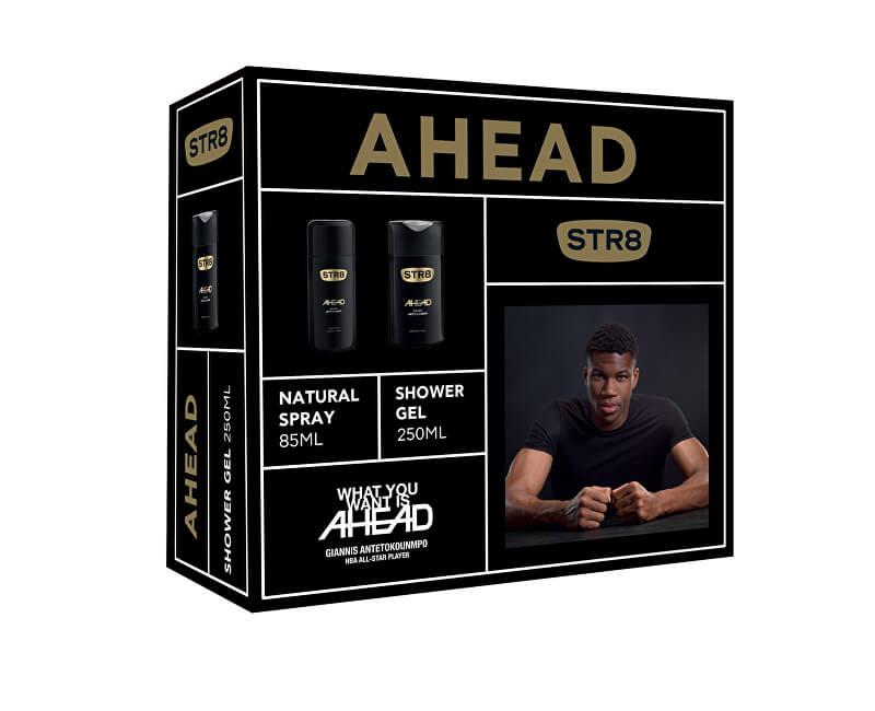 STR8 Ahead - deodorant s rozprašovačem 85 ml + sprchový gel 250 ml