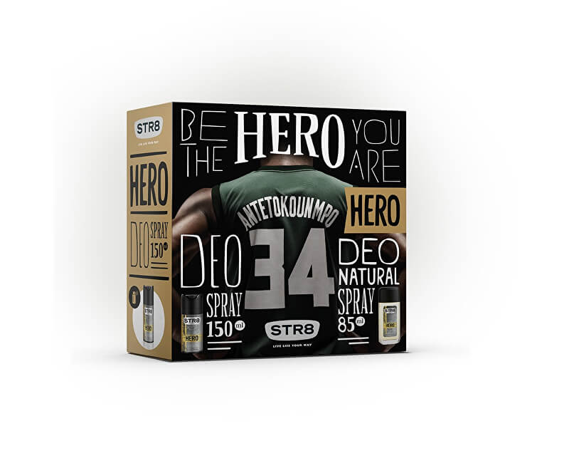 STR8 Hero - deodorant s rozprašovačem 85 ml + sprchový gel 250 ml