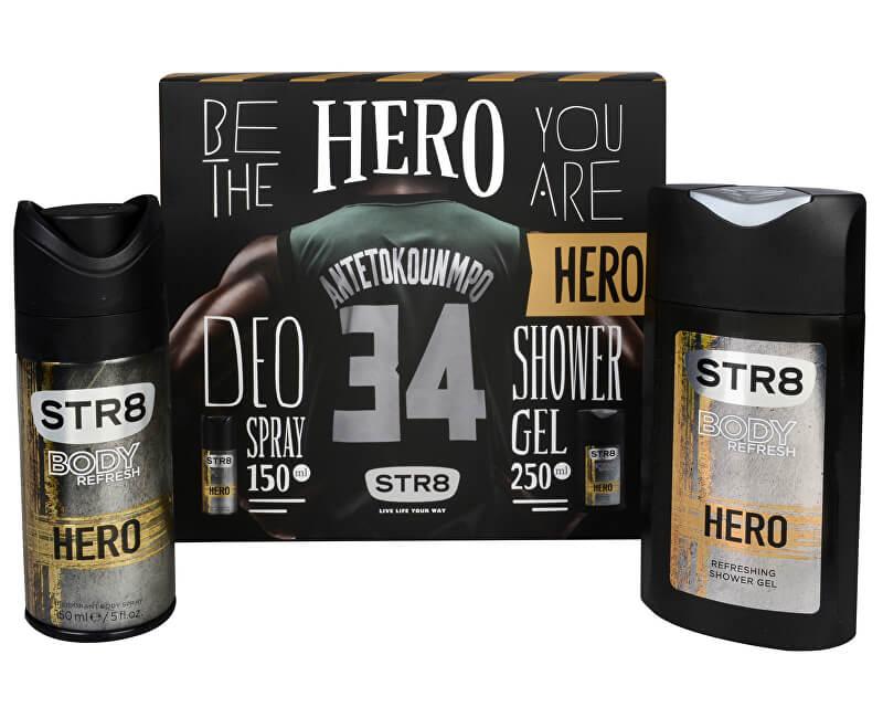 STR8 Hero - deodorant ve spreji 150 ml + sprchový gel 250 ml