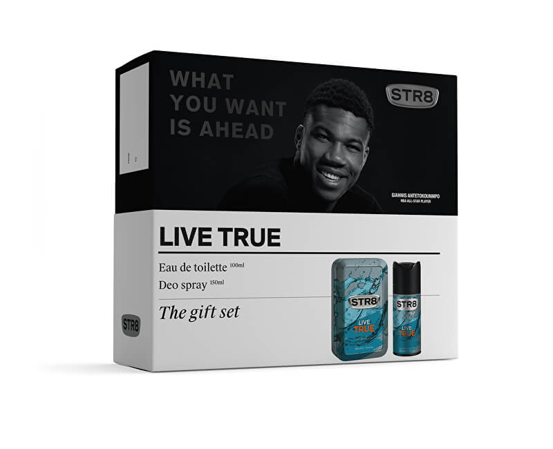 STR8 Live True - EDT 100 ml + deodorant ve spreji 150 ml