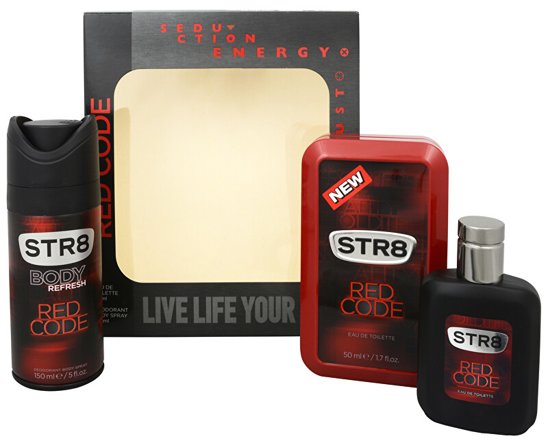 STR8 Red Code - EDT 50 + deodorant ve spreji 150 ml