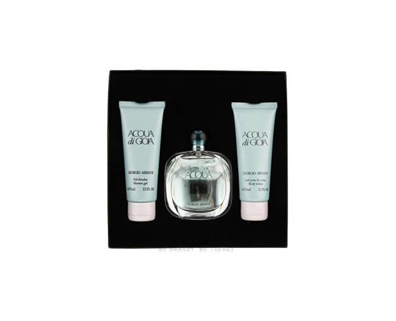 Armani Acqua Di Gioia - EDP 50 ml + tělové mléko 75 ml + sprchový gel 75 ml