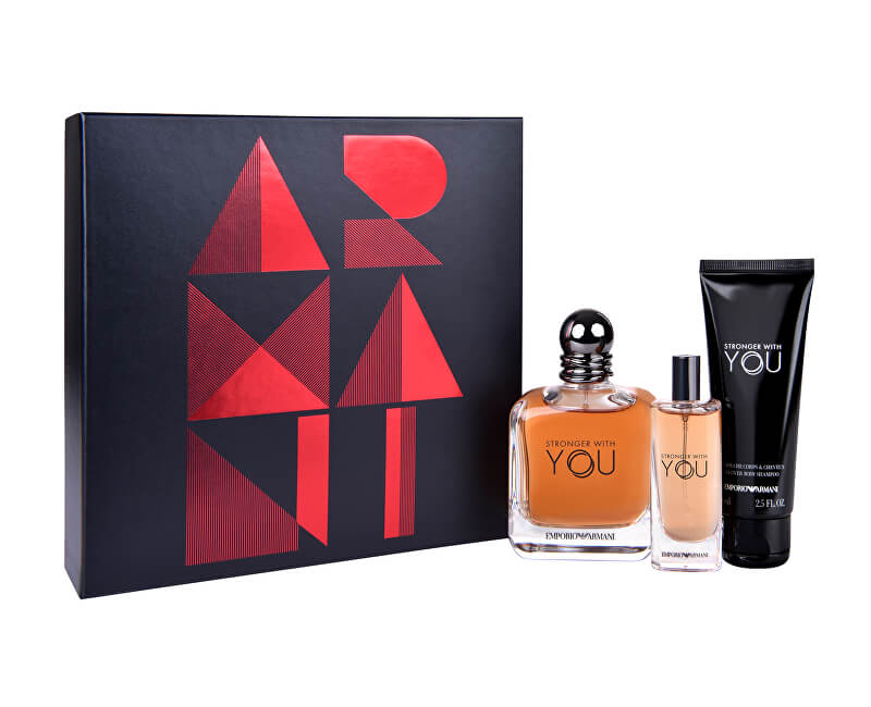 Armani Emporio Armani Stronger With You - EDT 100 ml + EDT 15 ml + sprchový gel 75 ml