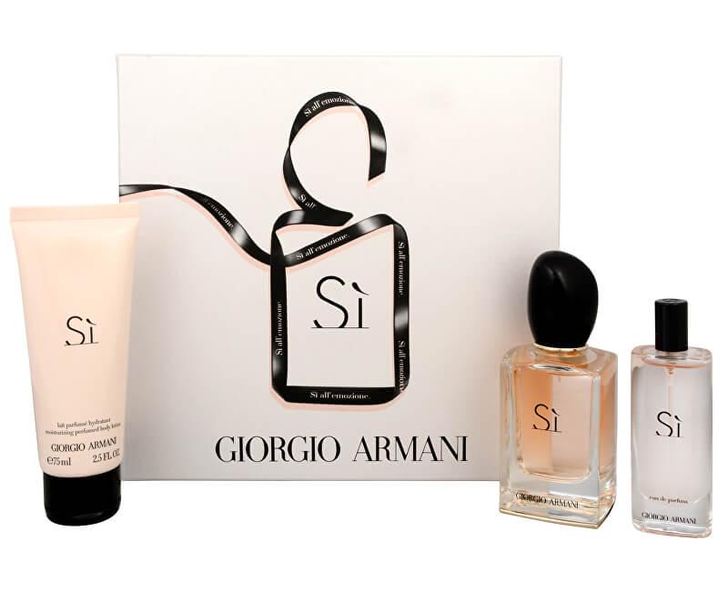 Armani Sì - EDP 50 ml + EDP 15 ml + tělové mléko 75 ml