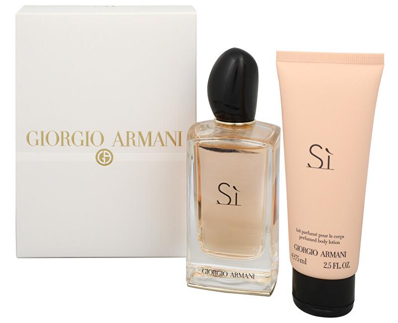 Armani Sì - EDP 100 ml + tělové mléko 75 ml