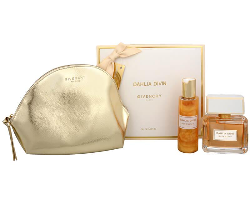 Givenchy Dahlia Divin - EDP 75 ml + tělový gel 100 ml + kosmetická taška