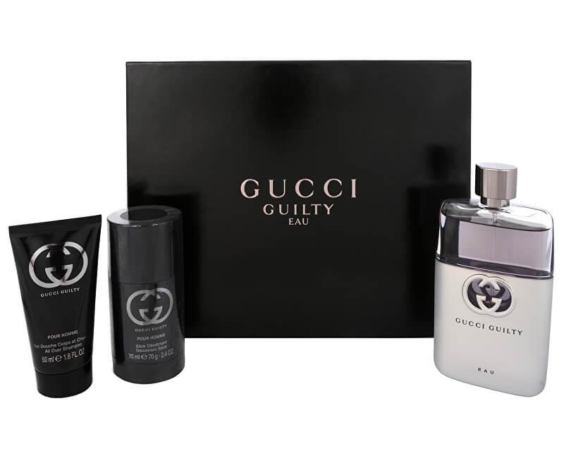Gucci Guilty Eau Pour Homme - EDT 90 ml + sprchový gel 50 ml + tuhý deodorant 75 ml