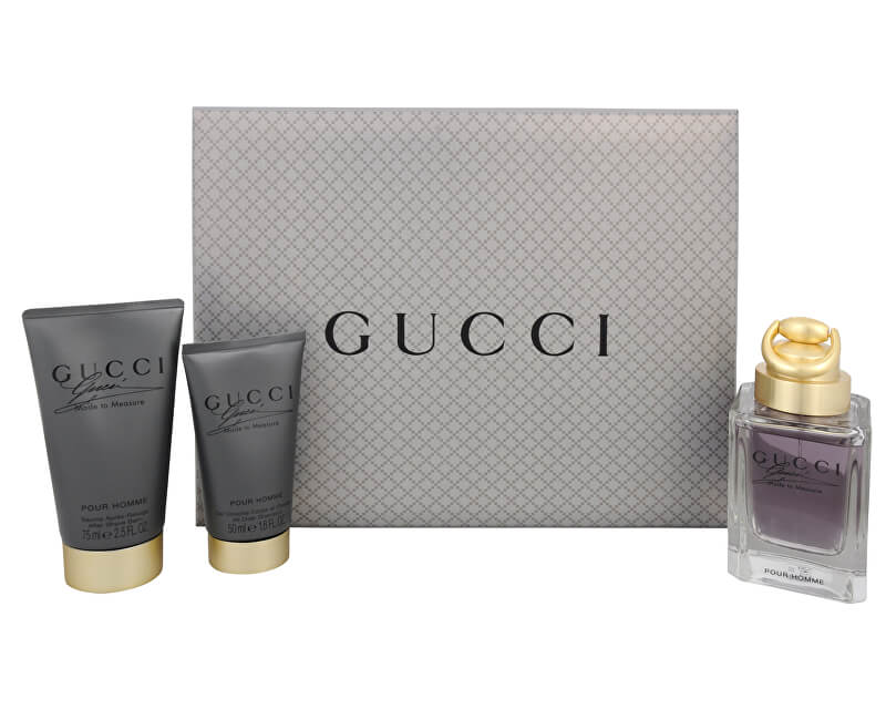 Gucci Made To Measure - toaletní voda s rozprašovačem 90 ml + balzám po holení 75 ml + sprchový gel 50 ml